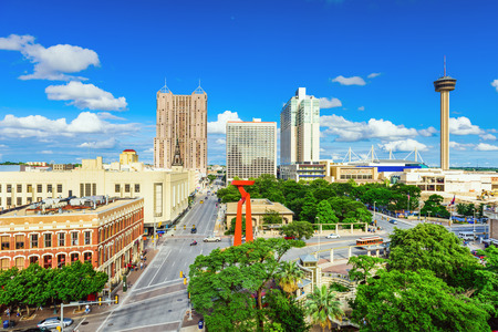 San Antonio, Texas, USA downtown skyline. Stock Photo