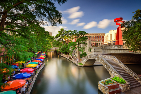 San Antonio, Texas, USA cityscape at the Riverwalk. Stock Photo - 117388543