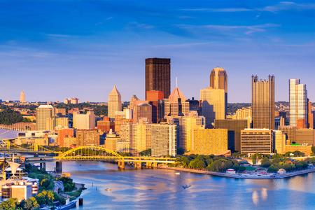 Pittsburgh, Pennsylvania, USA at dusk.