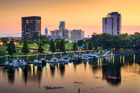 Augusta, Georgia, USA downtown skyline. Zdjęcie Seryjne
