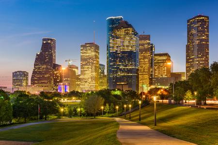 Houston, Texas, USA park and downtown skyline. Stock Photo