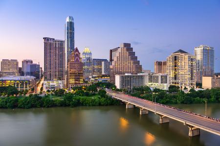 米国テキサス州オースティンのダウンタウンのスカイライン。 写真素材