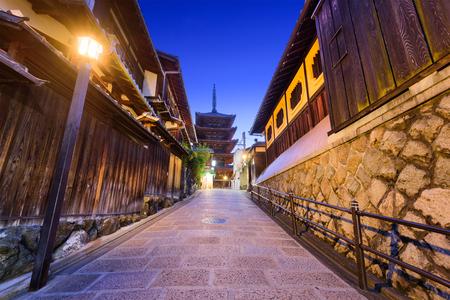 sightseeng: Kyoto, Japan old city at Yasaka Pagoda.