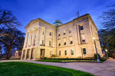 govern: Raleigh, North Carolina, USA State Capitol Building. Stock Photo