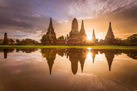 Ayutthaya, Thailand in Wat Chaiwatthanaram.