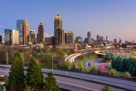 atl: Atlanta, Georgia, USA downtown skyline. Stock Photo