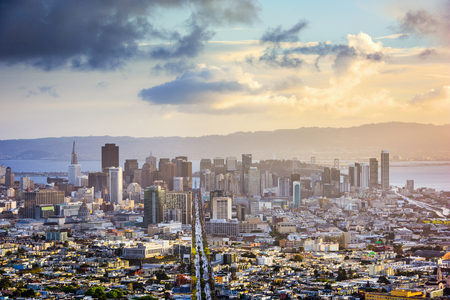 San Francisco, California, USA skyline.
