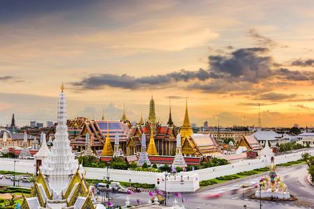 Bangkok, Thailand at the Temple of the Emerald Buddha and Grand Palace. Editorial