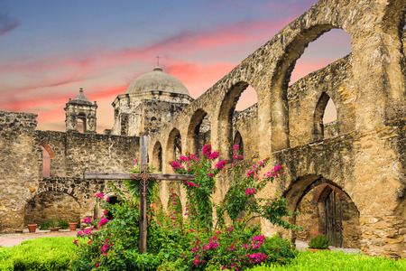Mission San Jose in San Antonio, Texas, USA. Reklamní fotografie