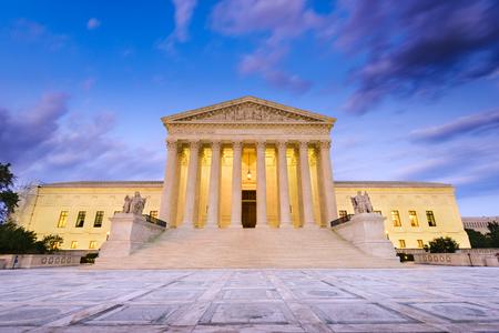 Verenigde Staten Supreme Court-gebouw in Washington DC, USA.