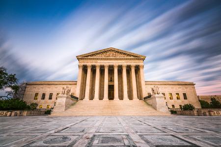 Verenigde Staten Supreme Court-gebouw in Washington DC, USA. Stockfoto