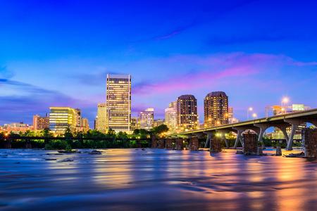 Richmond, Virginia, USA downtown skyline on the James River. Stock Photo