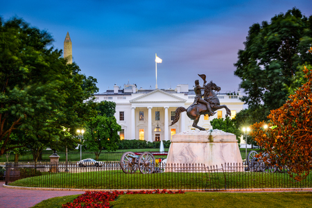the white house: Washington, DC at the White House and Lafayette Square. Editorial