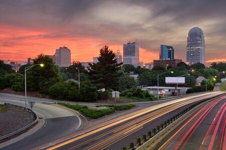 north carolina: Winston-Salem, North Carolina, USA skyline.
