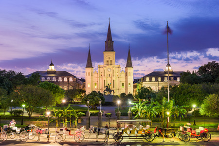 New Orleans, Louisiana, Verenigde Staten in St. Louis Cathedral en Jackson Square.