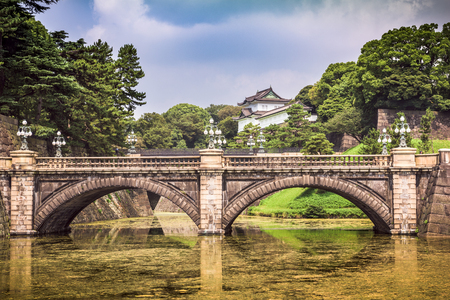hashi: Tokyo Imperial Palace of Japan moat and bridge.