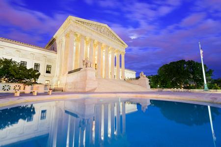supreme court: United States Supreme Court Building in Washington DC, USA.