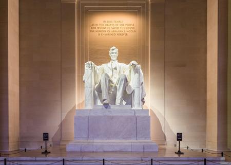 memorial: Lincoln Memorial in Washington DC, USA.