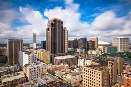 office buildings: New Orleans, Louisiana, USA dontown skyline.