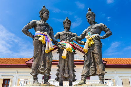 Chiang Mai, Thailand Three Kings Monument.
