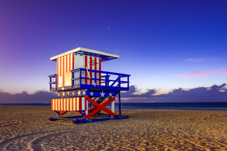 Miami Beach, Florida, USA at the break of dawn.