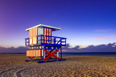 floridian: Miami Beach, Florida, USA at the break of dawn.