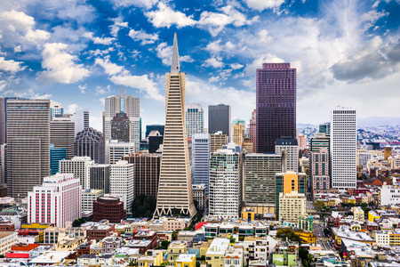 San Francisco, California, USA Skyline. Stock Photo