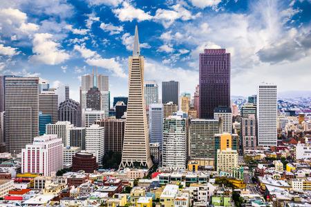telegraph hill: San Francisco, California, USA Skyline. Stock Photo
