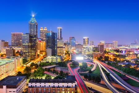 atlanta tourism: Atlanta, Georgia, USA downtown city skyline. Stock Photo