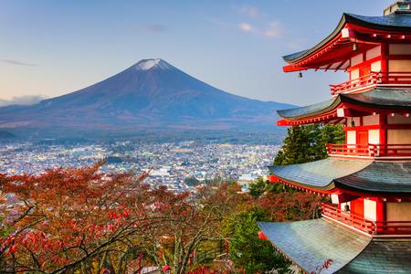 sengen: Mt. Fuji, Japan from Chureito Pagoda in autumn.