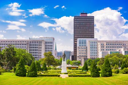 Baton Rouge, Louisiana, EE.UU., ciudad de los jardines del Capitolio Estatal. Foto de archivo