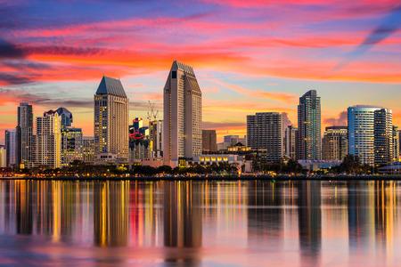 San Diego, Kalifornie, USA centrální panorama.