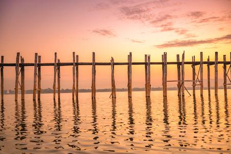 U-Bein Bridge in Mandalay, Myanmar.