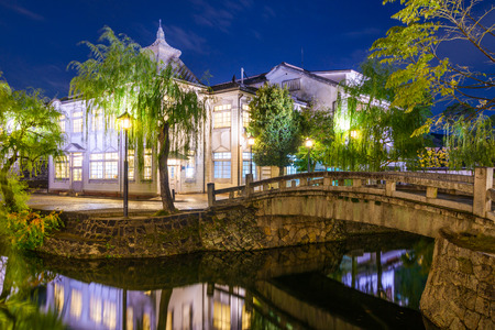 canal street: Historic canal in Kurashiki, Okayama, Japan. Stock Photo