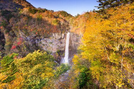 Kegon Falls in Nikko, Japan.