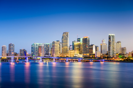 fl: Miami, Florida, USA downtown skyline. Stock Photo