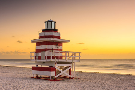 floridian: Miami Beach, Florida, USA at dawn. Stock Photo