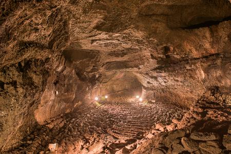 saiko: Saiko Bat Caves interior in Aokigahara Forest, Japan.