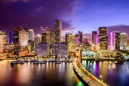 high rises: Miami, Florida, USA downtown Skyline.