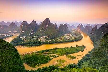 Karst Mountains of Xingping, Guilin, China.