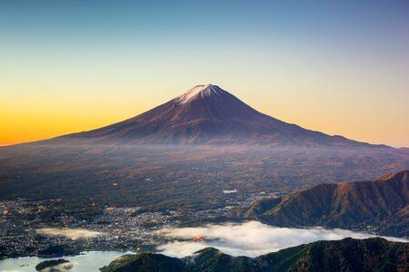 tokyo prefecture: Mt. Fuji, Japan over Kawaguchi Lake.