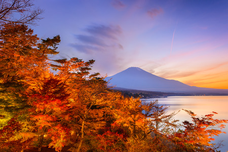 mount: Mt. Fuji, Japan during autumn.