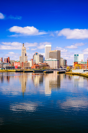 providence: Providence, Rhode Island, USA city skyline on the river.