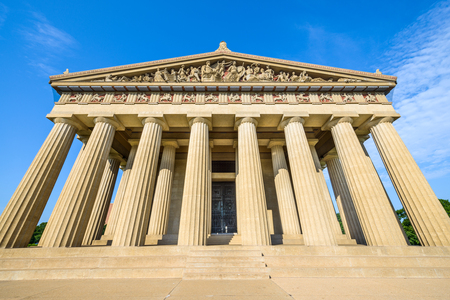 centennial: Parthenon Replica at Centennial Park in Nashville, Tennessee, USA. Stock Photo