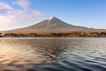 Mt. Fuji at Kawaguchi Lake in Japan. Stock Photo