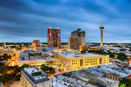 antonio: San Antonio, Texas, USA downtown skyline. Stock Photo