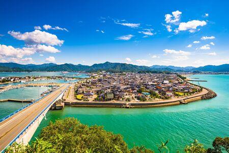 Senzaki, Nagato, Yamaguchi Japan town view.