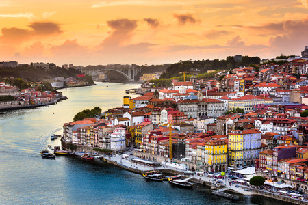 rabelo: Porto, Portugal old town on the Douro River.