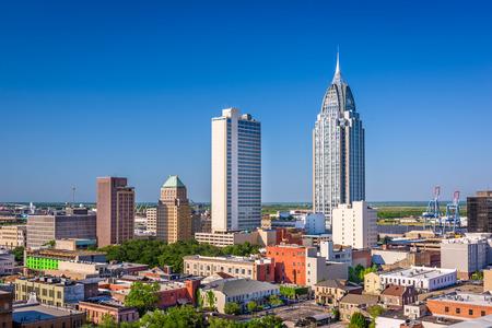 Mobile, Alabama, USA downtown skyline. Stock Photo