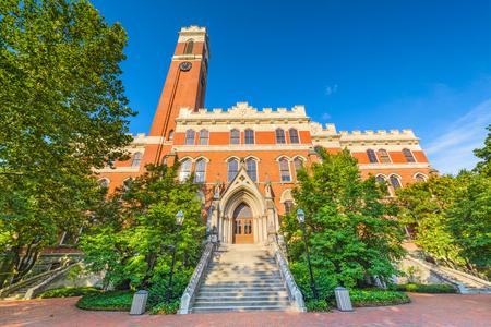 tennesse: Campus de Vanderbilt Unversity en Nashville, Tennessee. Editorial